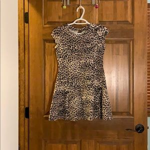 Leopard print girl's dress